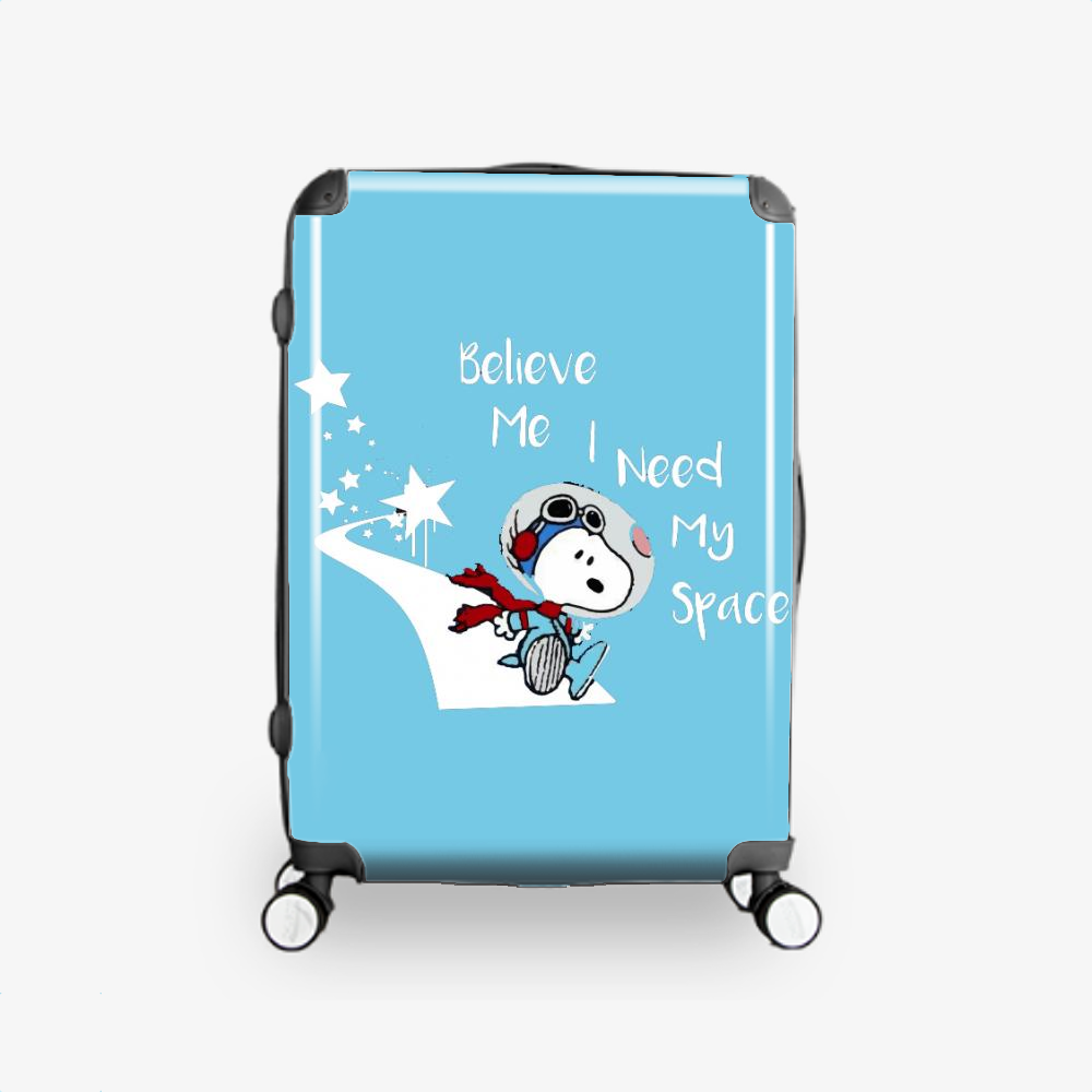 Snoopy Peanuts I Need My Space, Snoopy Hardside Luggage
