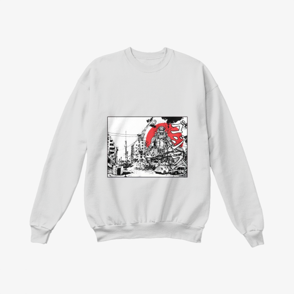 King Of The Monsters, Godzilla Crewneck Sweatshirt