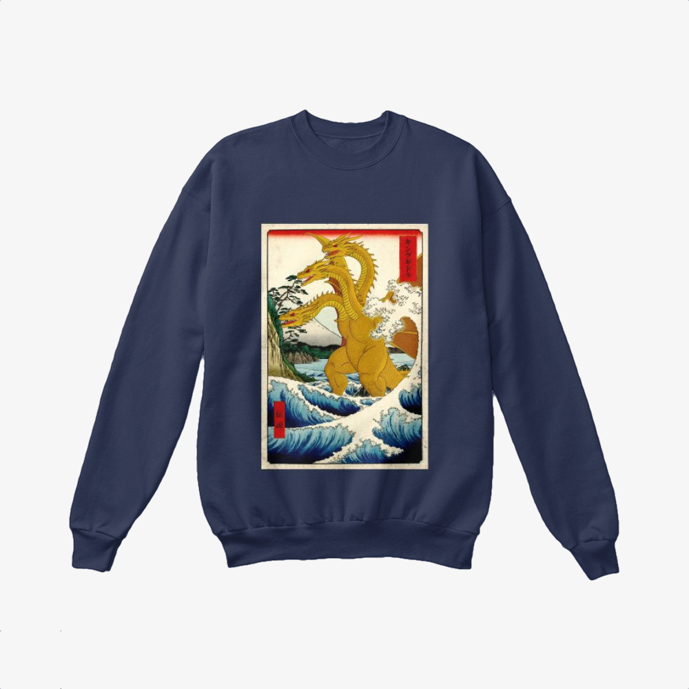 King Of Ghidorah, Godzilla Crewneck Sweatshirt