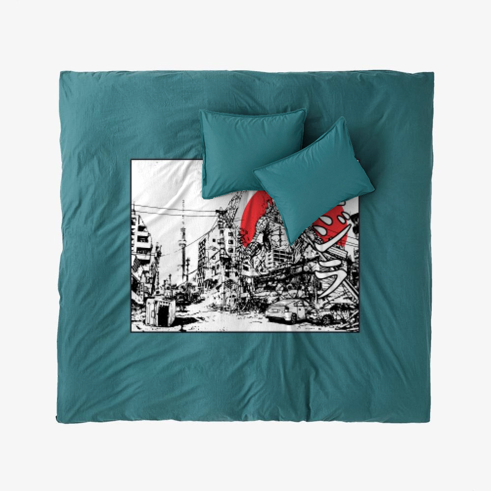 King Of The Monsters, Godzilla Duvet Cover Set