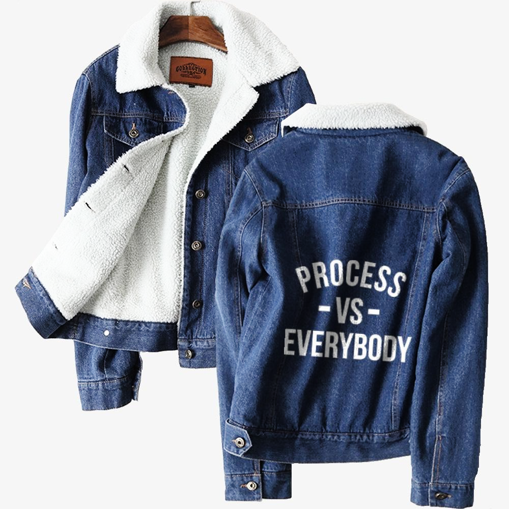 Processvseverybody, National Basketball Association Classic Lined Denim Jacket