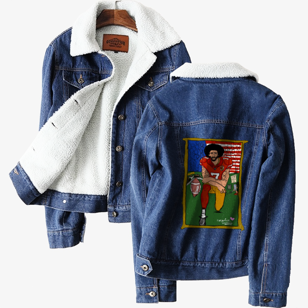 Tributte Black Lives Matters, Colin Kaepernick Classic Lined Denim Jacket