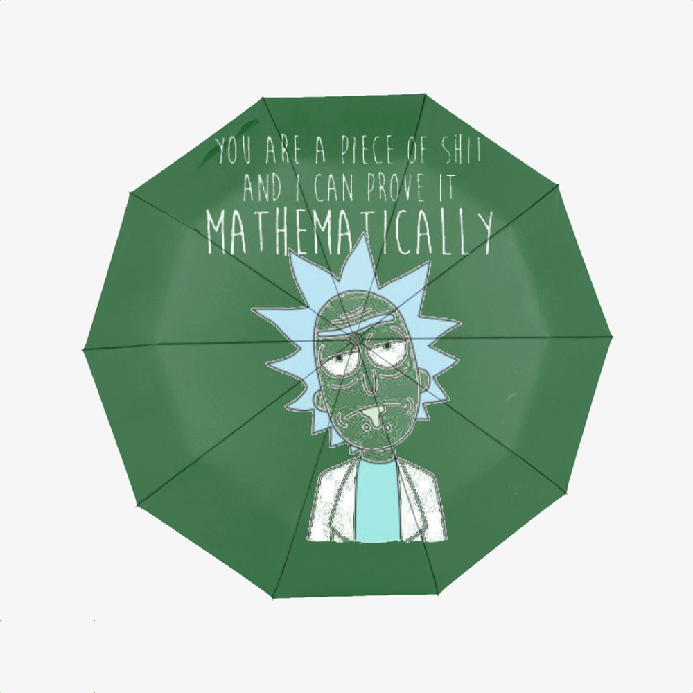 You Are A Piece Of Shit And I Can Prove It Mathematically, Rick And Morty Classic Umbrella