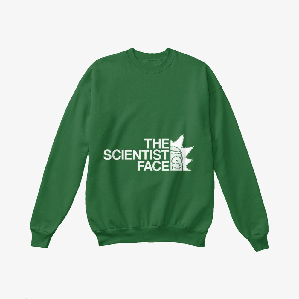 The Scientist Face, Rick And Morty Crewneck Sweatshirt