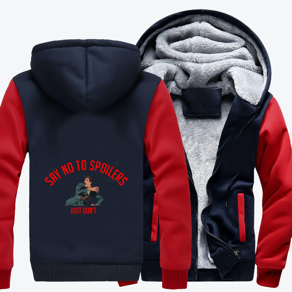 Say No To Spoilers, The Expanse (tv Series) Fleece Jacket
