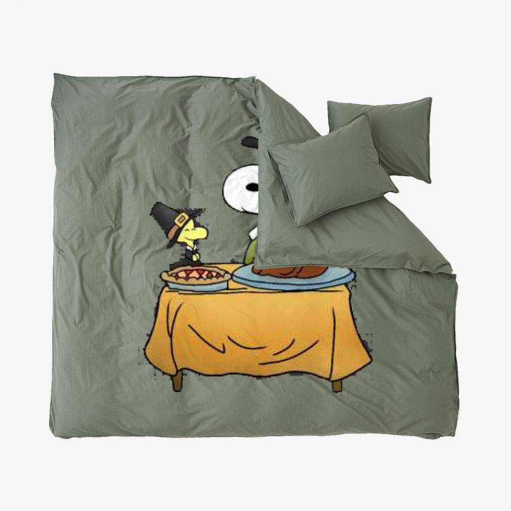 Thanksgiving Snoopy, Snoopy Duvet Cover Set