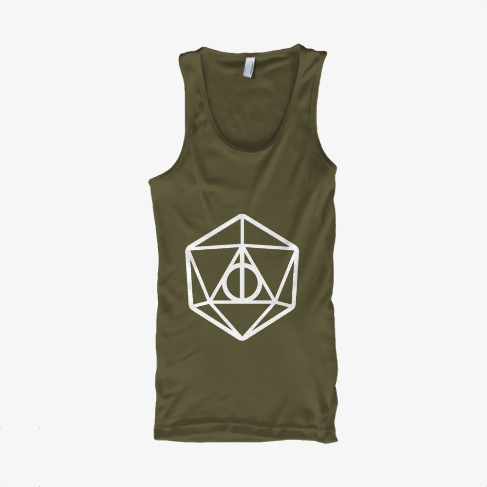 Deathly Hallows Dungeons Dragons D20, Harry Potter Classic Tank Top