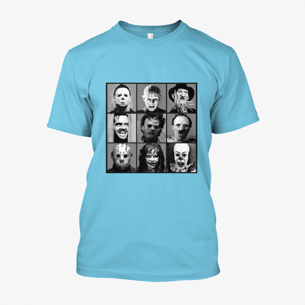 Horror Pop Bw, Horror Film Cotton T-Shirt