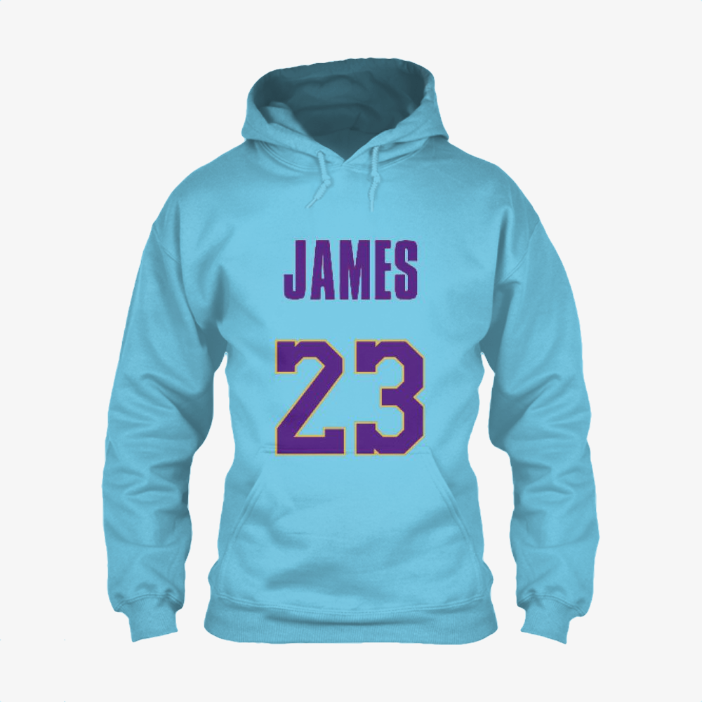 Lakers Jersey 3, Lebron James Classic Hoodie