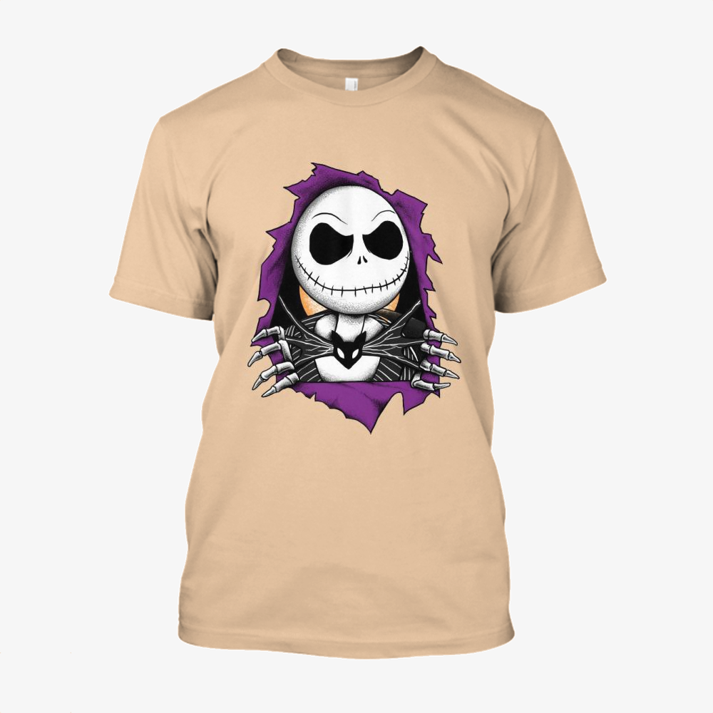 Bones Before Christmas, Jack Skellington Cotton T-Shirt