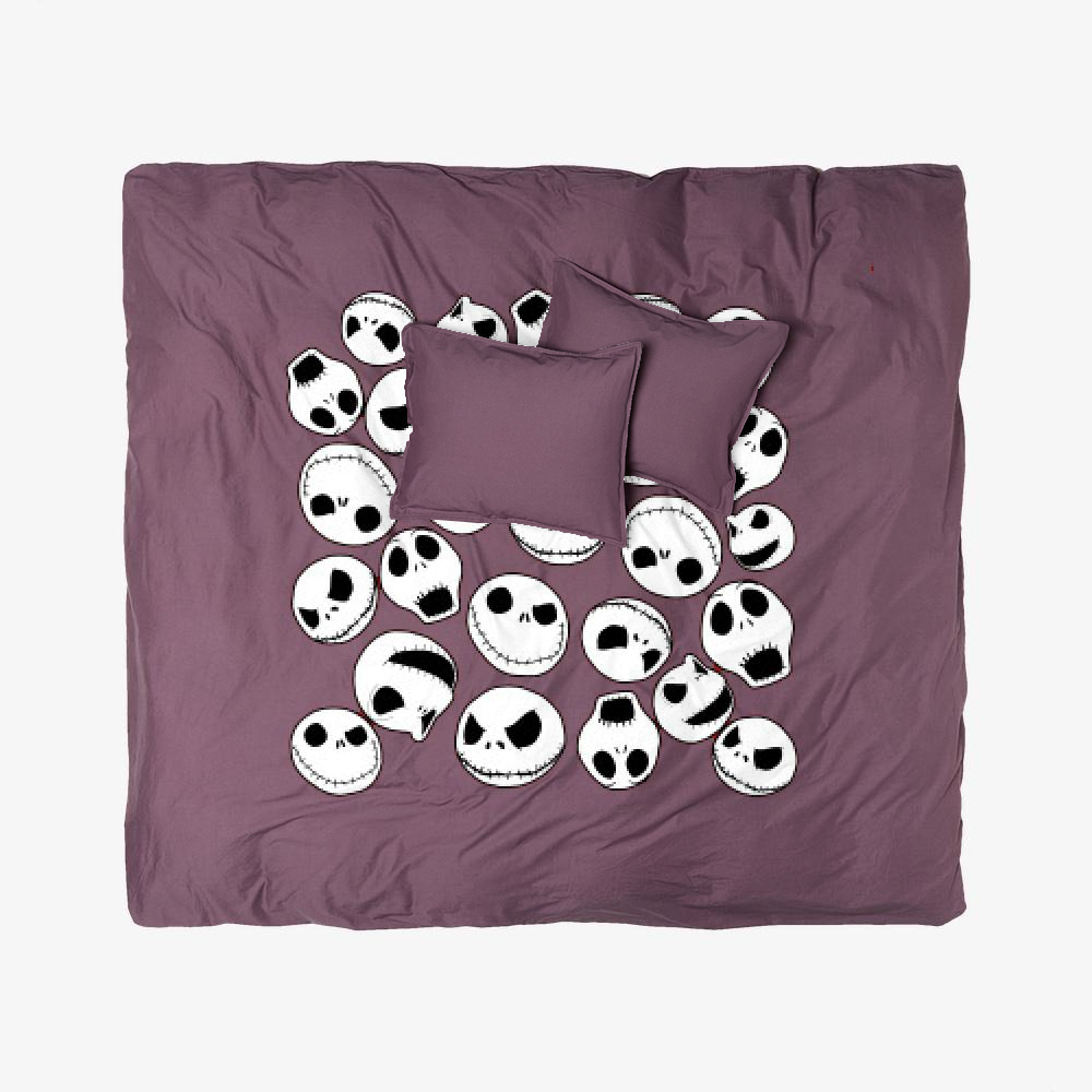 Jack Skellington Pattern, Jack Skellington Duvet Cover Set