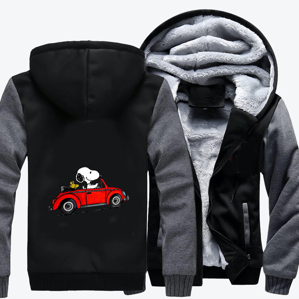 Car Snoopy, Snoopy Fleece Jacket