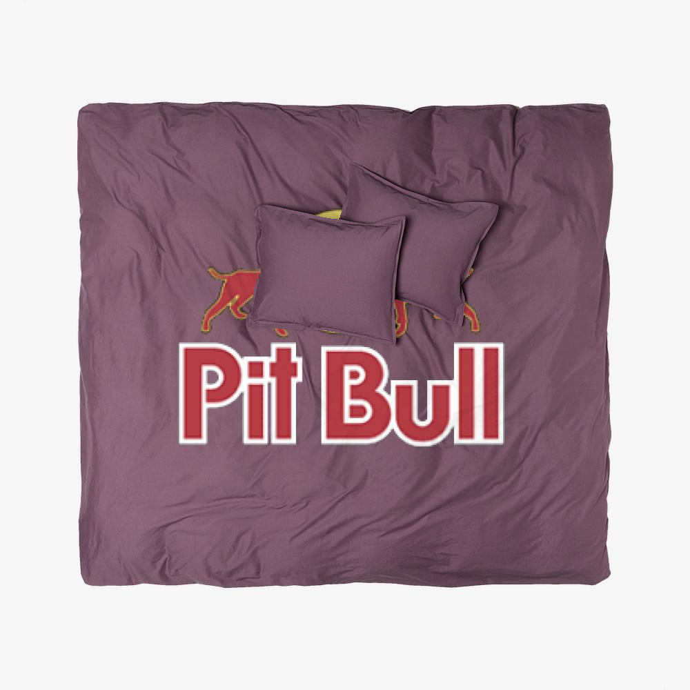 The Pitbull Two Red Pit Bull, Pitbull Duvet Cover Set