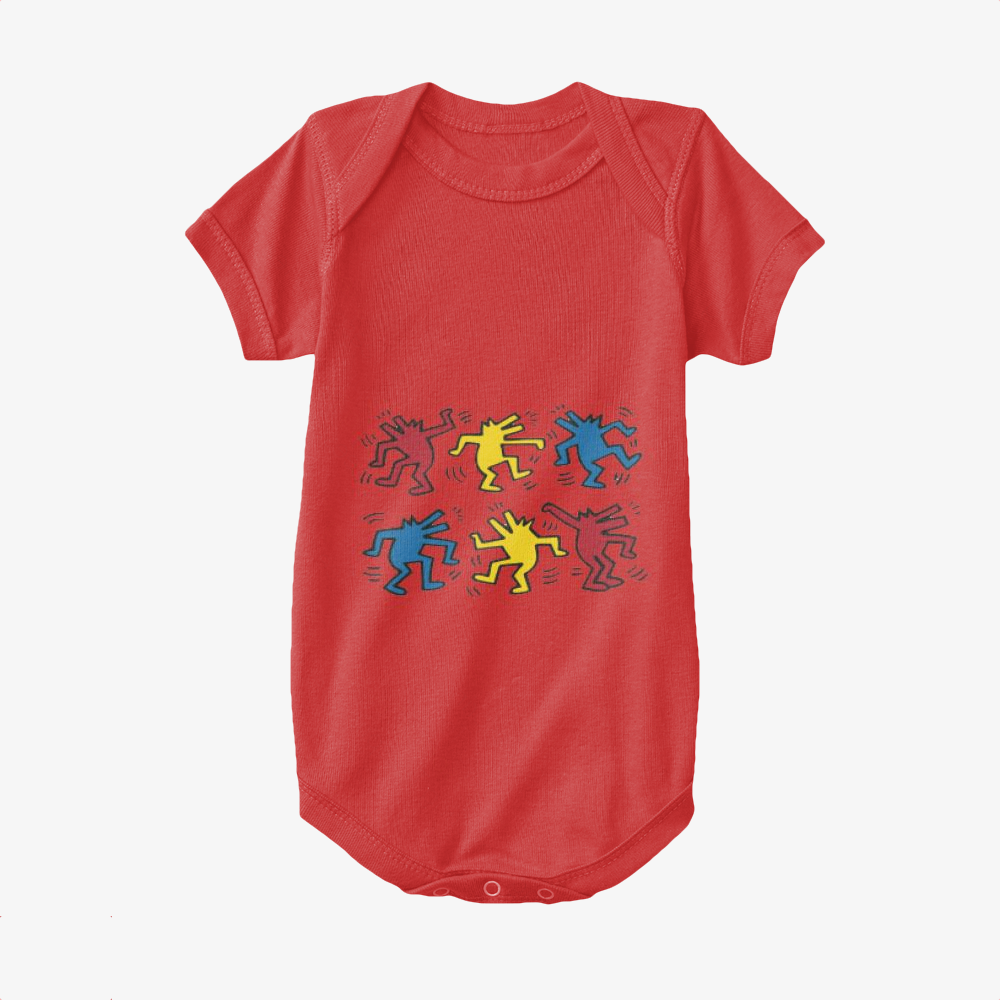 Dogs Dacing, Keith Haring Baby Onesie