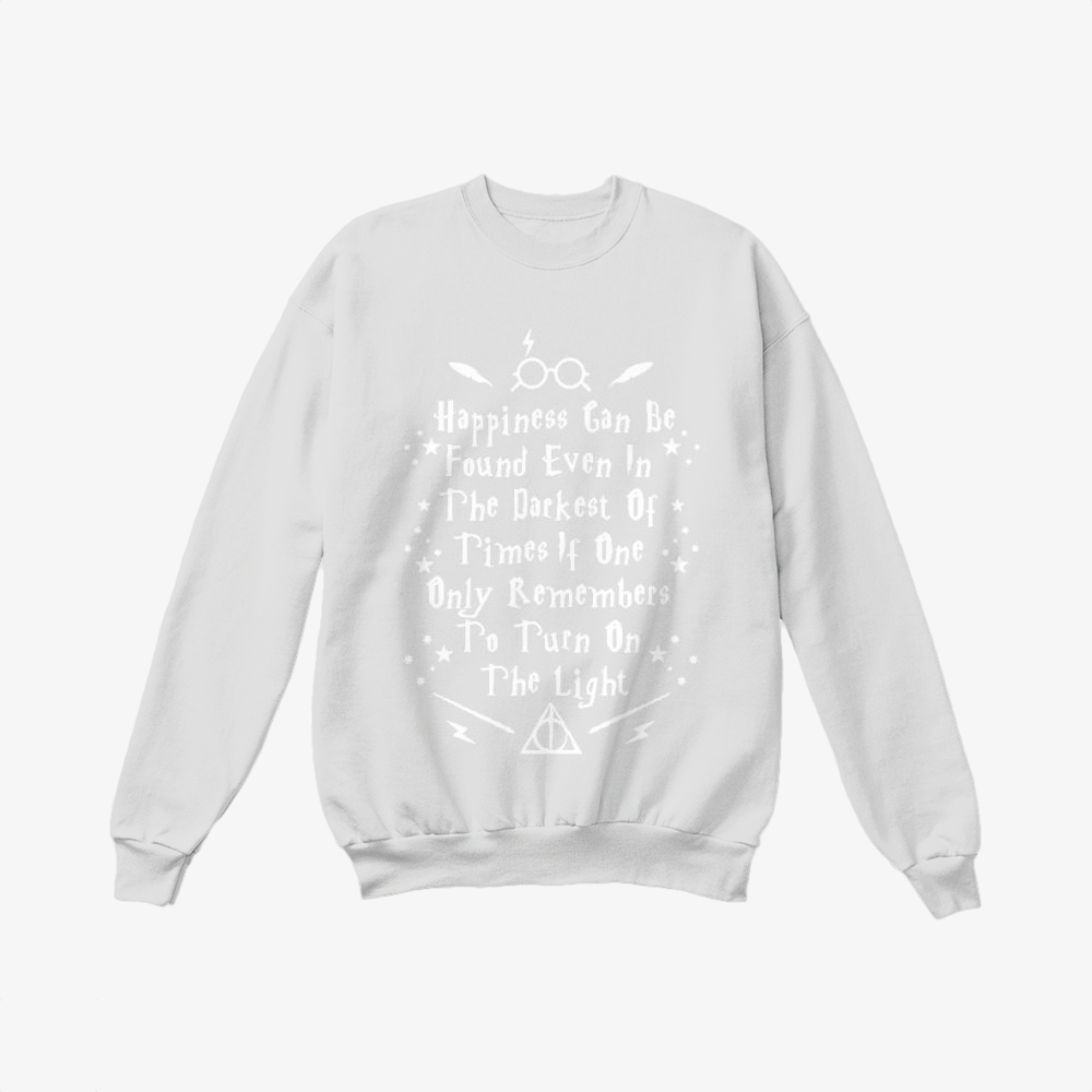 Happiness Can Be Found Even In The Darkest, Harry Potter Crewneck Sweatshirt