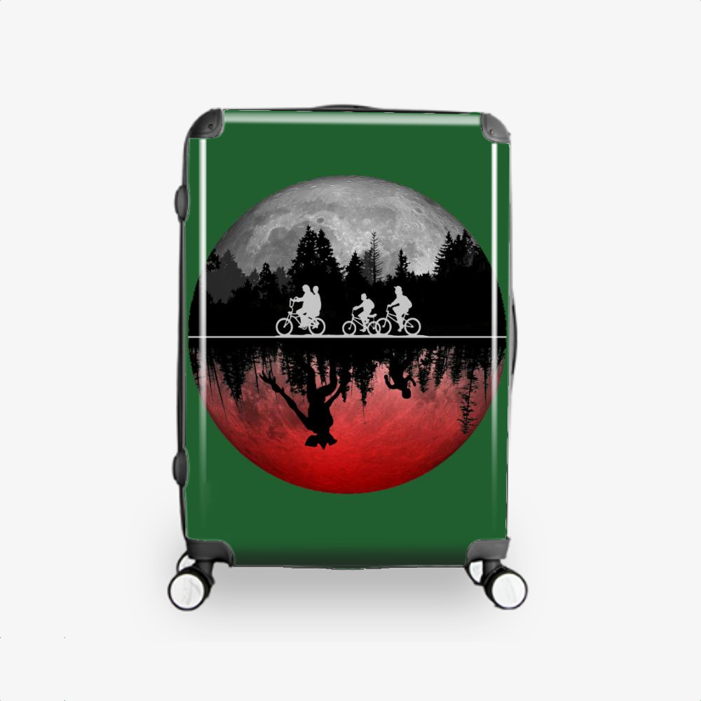 Stranger Things Illustrated Graphic, Horror Film Hardside Luggage