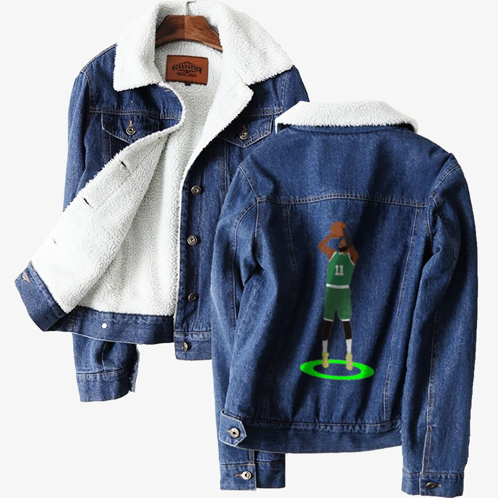 Kyrie Irving Green Light, National Basketball Association Classic Lined Denim Jacket