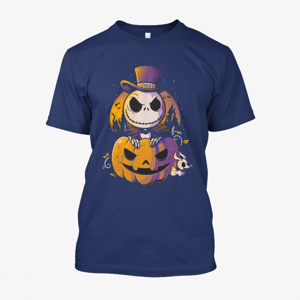 Spooky Jack, Jack Skellington Cotton T-Shirt