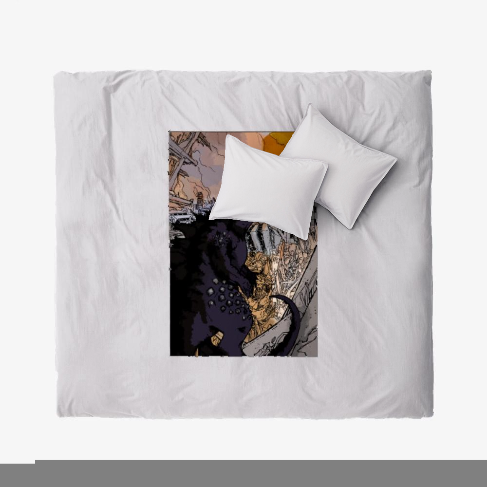 Destroying Your City In The Sunset, Godzilla Duvet Cover Set