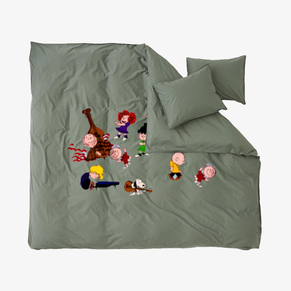 Charlie Brown Christmas Dance, Snoopy Duvet Cover Set