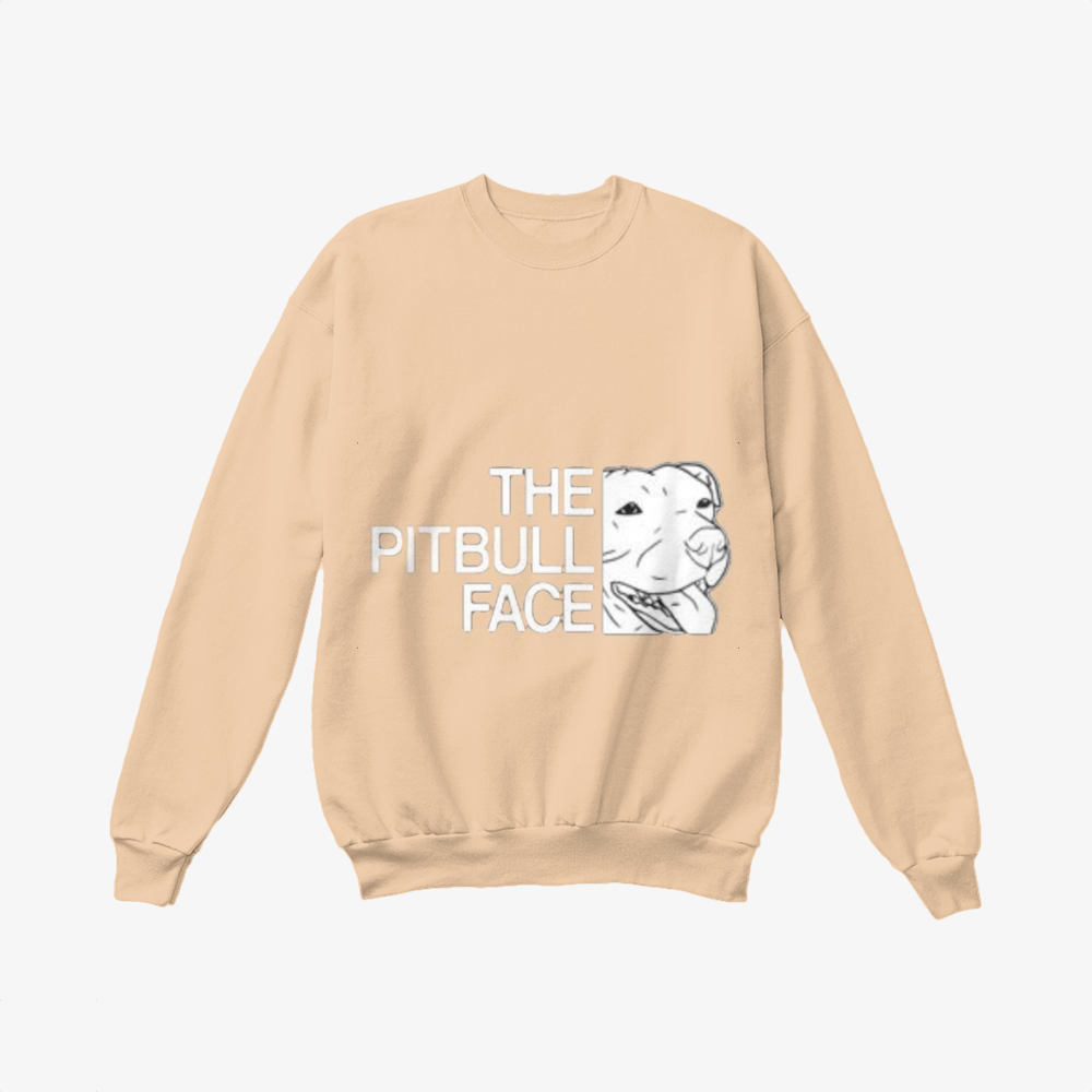 The Pitbull Face, Pitbull Crewneck Sweatshirt