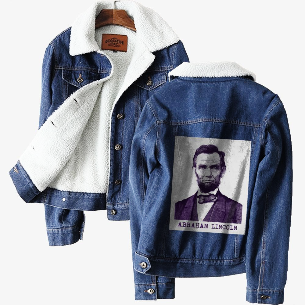 Abraham Lincoln, Abraham Lincoln Classic Lined Denim Jacket