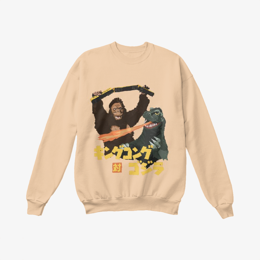 Exclusive King Kong, Godzilla Crewneck Sweatshirt