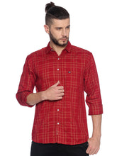 Load image into Gallery viewer, Street Jump Men Slim Fit Checkered Spread Collar Casual Shirt