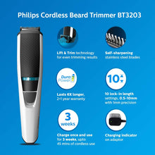 Load image into Gallery viewer, Philips BT3203/15 cordless rechargeable Beard Trimmer For Men