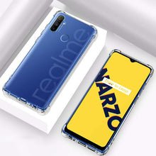 Load image into Gallery viewer, Tremolite Transparent Crystal Clear Realme Narzo 10A Back Case