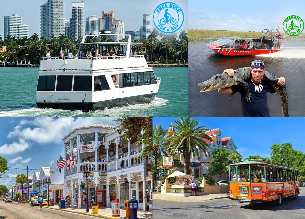 4 Tours Combo with free SoBe Bike Rental