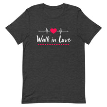 Load image into Gallery viewer, Walk In Love Heartbeat Couple T-Shirt