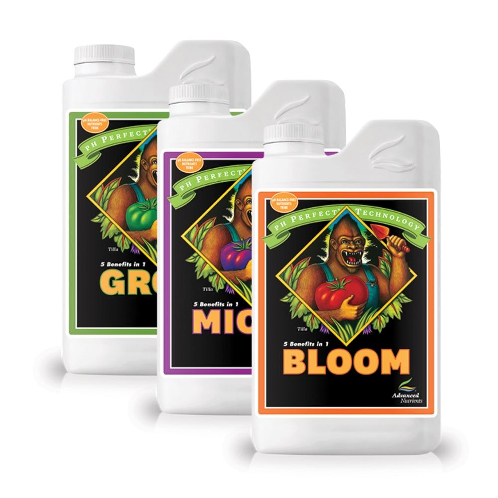 Advanced Nutrients pH Perfect Micro, Grow, Bloom