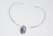 Load image into Gallery viewer, Sterling Silver Pendant with Crystals