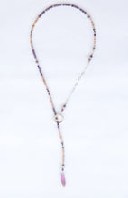 Load image into Gallery viewer, Sterling Silver Lariat with Semi Precious Stones.