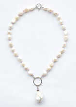 Load image into Gallery viewer, Baroque Pearl Necklace with Sterling Silver and Amethyst.