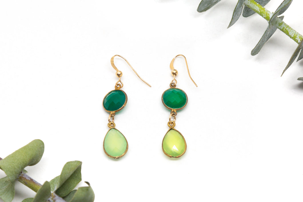 Gold Filled Chalcedony earrings.