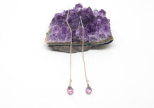Load image into Gallery viewer, Sterling Silver and Amethyst Earrings.