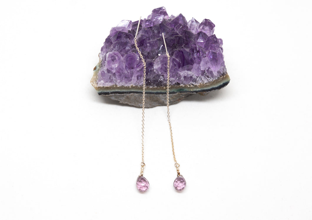 Sterling Silver and Amethyst Earrings.