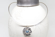 Load image into Gallery viewer, Sterling Silver Etch Pendant with Crystals