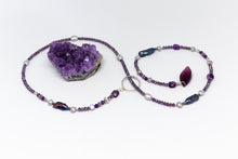 Load image into Gallery viewer, Sterling Silver Lariat with Amethyst