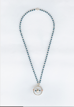 Load image into Gallery viewer, Sterling Silver necklace with blue crystals