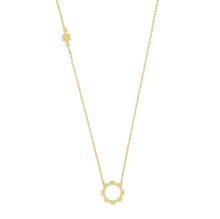 Load image into Gallery viewer, Mini Gear Necklace 18k Gold Plated.