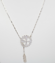 Load image into Gallery viewer, Sterling Silver Lariat Gear Necklace.