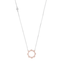 Load image into Gallery viewer, Medium Gear 18k Rose Gold Plated.
