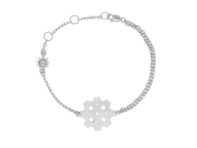 Multi Gear Sterling Silver Bracelet
