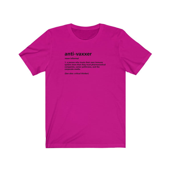 Anti-Vaxxer Definition Tee (White & Light Colors) NV1018L