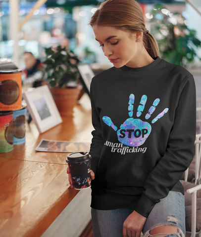 Stop Human Trafficking Sweatshirt  -SHTSW1002