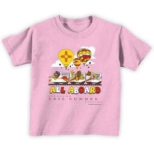 All Aboard Infant/Toddler Tee (Pink)