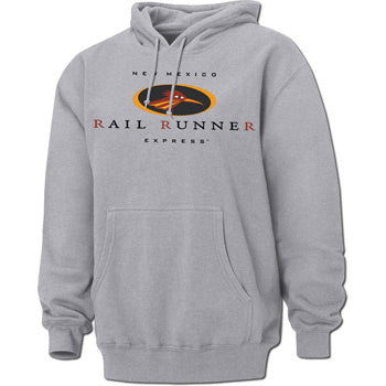New Mexico Rail Runner Gray Adult Hoodie